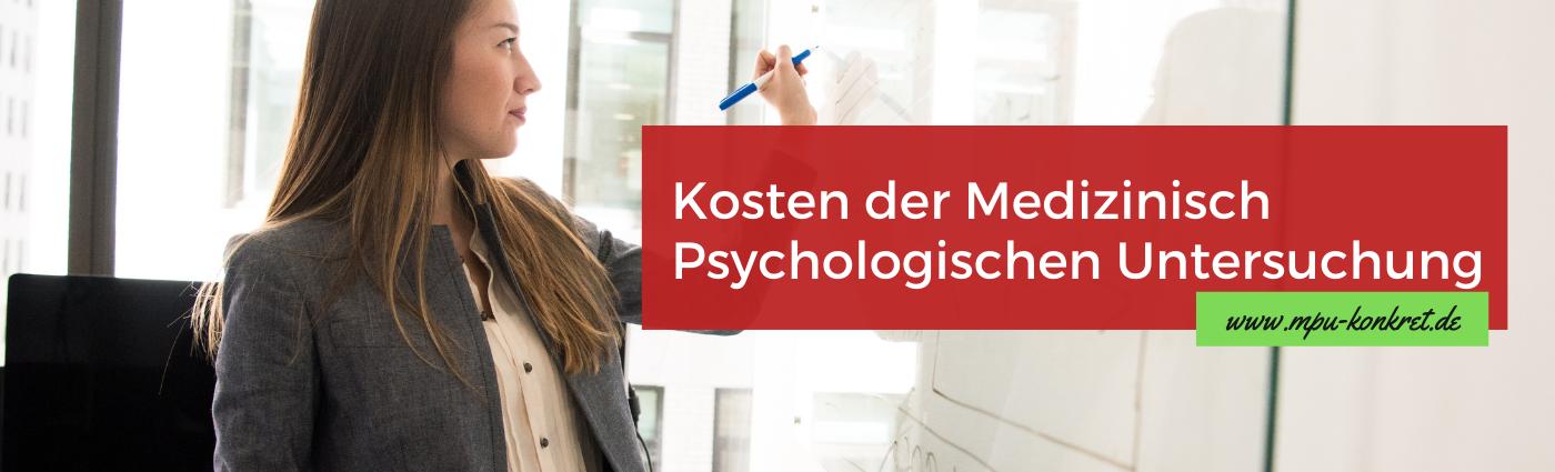 MPU Kosten Preise Medizinisch Psychologisches Gutachten